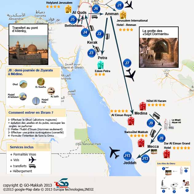 Combiné Omra court séjour + Petra + Al Quds + Bethléem + Hébron Al Khalil