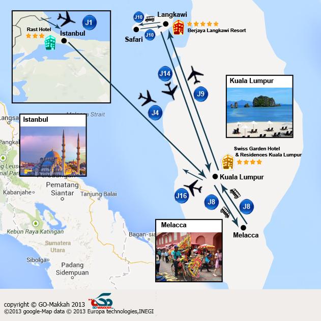Combiné la Malaisie avec Istanbul en mois d'août 2017