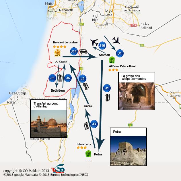 Circuit en Palestine et Jordanie : de Petra à Al Aqsa, de Akko à la Mer Morte