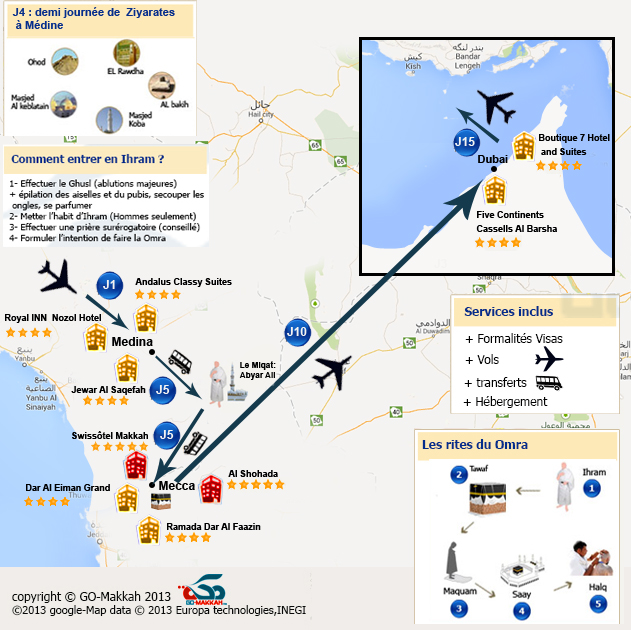 Omra + Dubai et Abou Dhabi en famille départ à tout moment