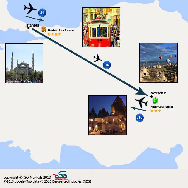 Séjour combiné à Istanbul et Cappadoce en 10 jours