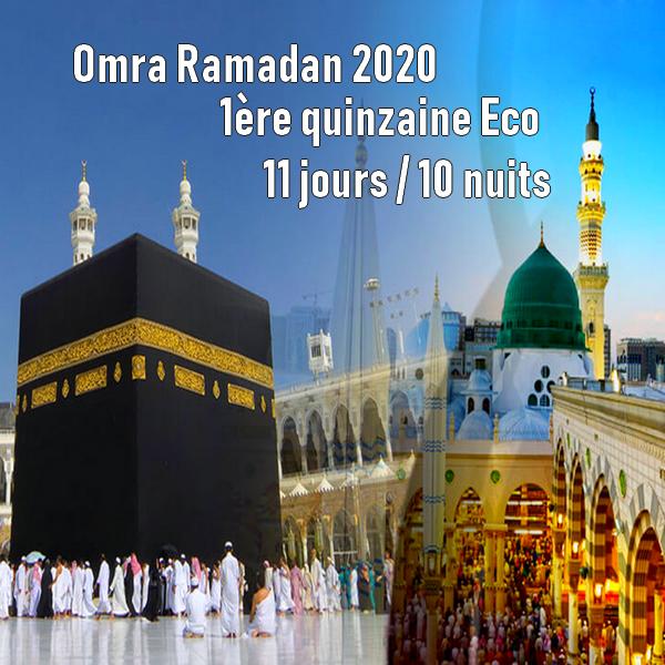 Omra Ramadan 2020 1ère quinzaine 11 jours Eco