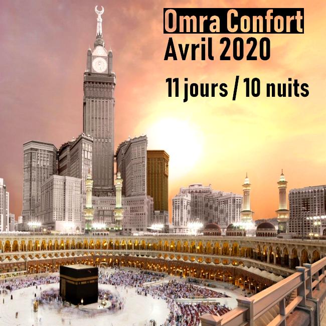 Omra Confort 11 jours Avril 2020
