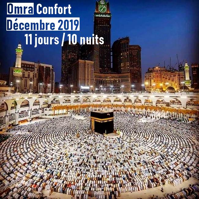 Omra Confort 11 jours Décembre 2019