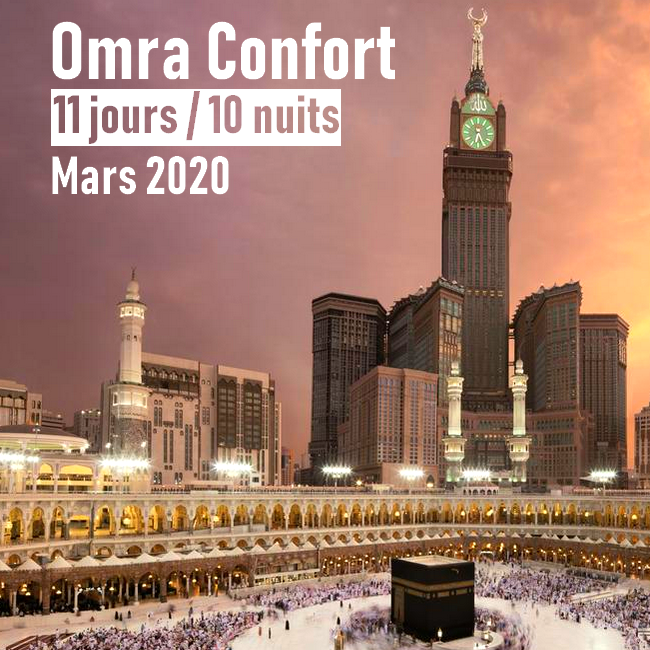 Omra Confort 11 jours Mars 2020