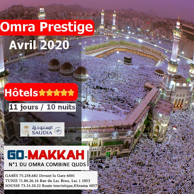Omra Prestige 11 jours Avril 2020