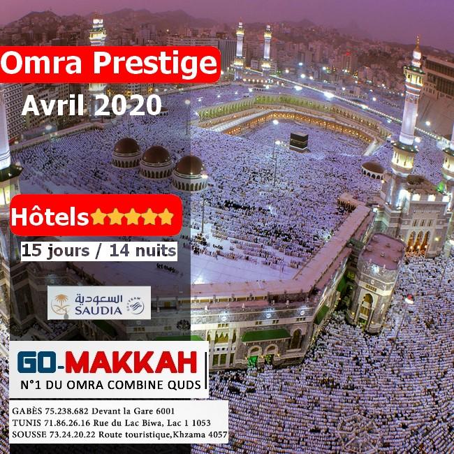 Omra Prestige 2 semaines Avril 2020