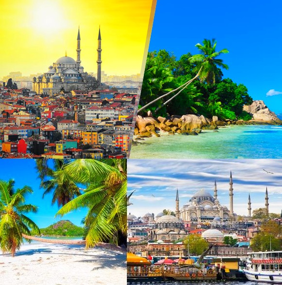 Combiné Seychelles - Istanbul en dix jours